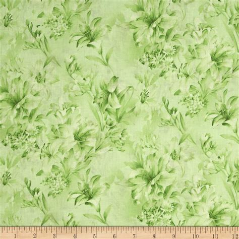 Floral In Green day 108 quot wide quilt backs floral green discount