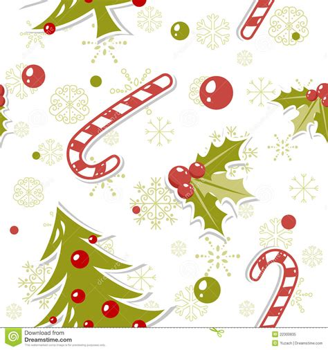 cute christmas pattern seamless pattern with cute cartoon christmas tree stock