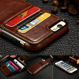 Stand Softcasing Iphone 5 5s Se 6 6s 6 6s Casing Iring luxury leather slim card holder back cover wallet for