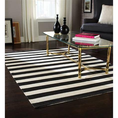 Black And White Striped Kitchen Rug Home Trends Area Rug 4 Ft 11 In X 6 Ft 9 In Black White Stripe Walmart Ca