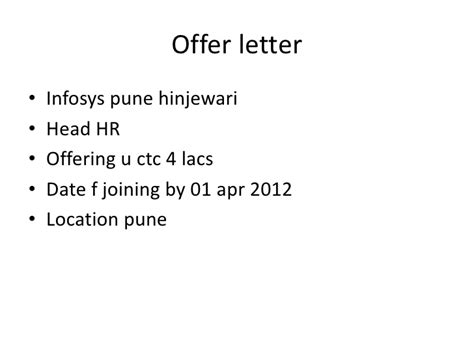 Infosys Offer Letters bsnsletters