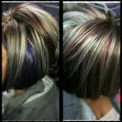 platinum hair with brown highlights dark brown base with platinum highlights dark brown hairs