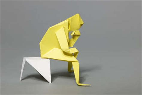 Folded Paper Figures - origami figures sutherland