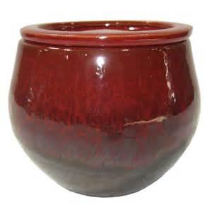 shop garden treasures 4 72 in x 5 12 in brown ceramic