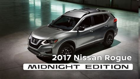 nissan rogue 2017 black 2017 nissan rogue midnight edition youtube