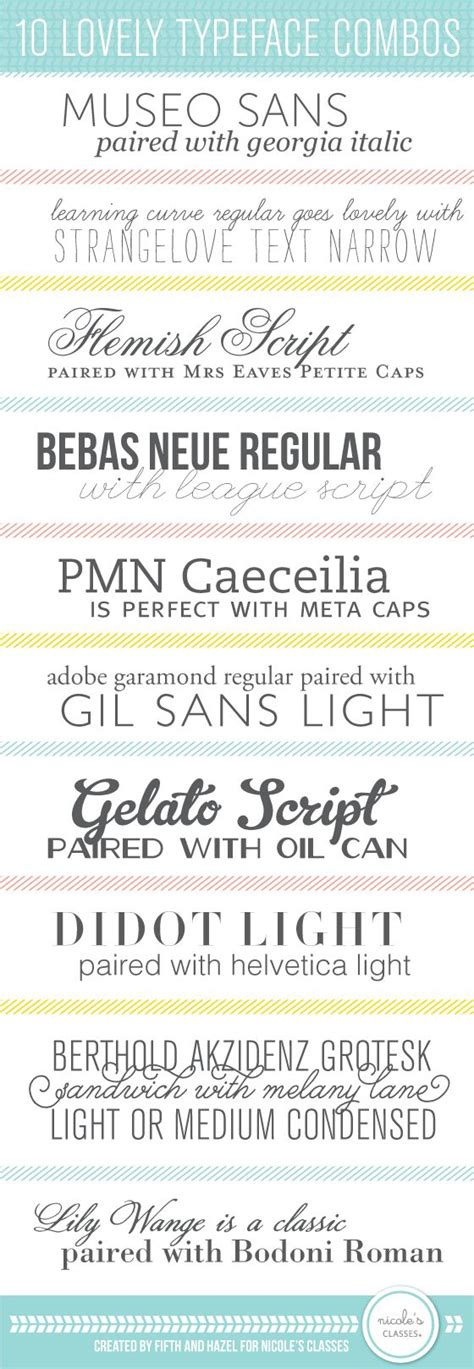 typography combinations great font combinations creatica