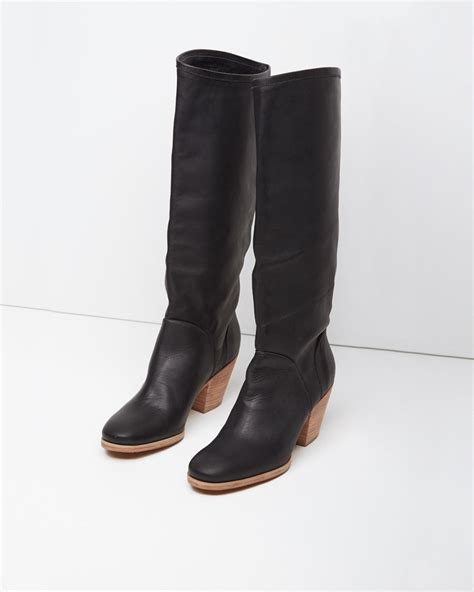comey boots lyst comey carrier boot in black