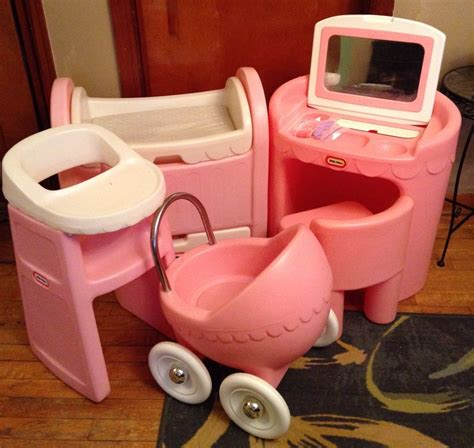 tikes swing cradle high chair lot vintage tikes pink child size vanity high chair