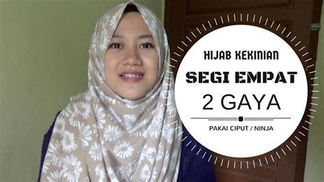 tutorial hijab segi empat youtube tutorial hijab terbaru segi empat 2 gaya kekinian terbaru