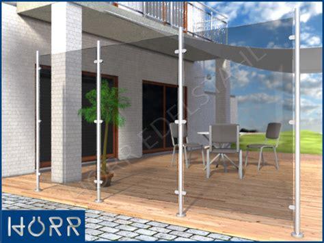 terrasse windschutz glas edelstahl windschutz sichtschutz terrasse balkon f glas ebay