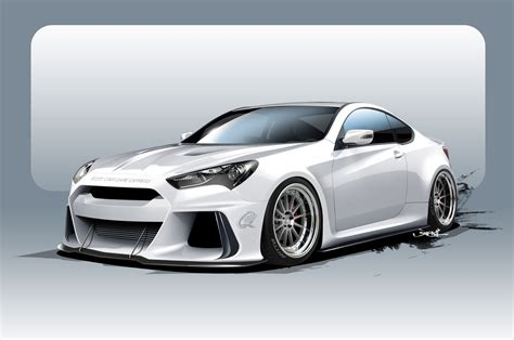 supercharged hyundai genesis supercharged hyundai genesis coupe heads to sema with 500 hp