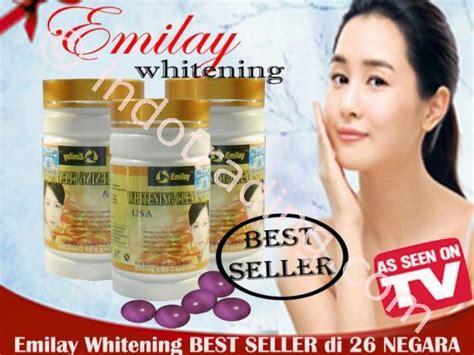 Pil Pemutih sell skin whitening pills herbal emilay whitening softgel original from indonesia