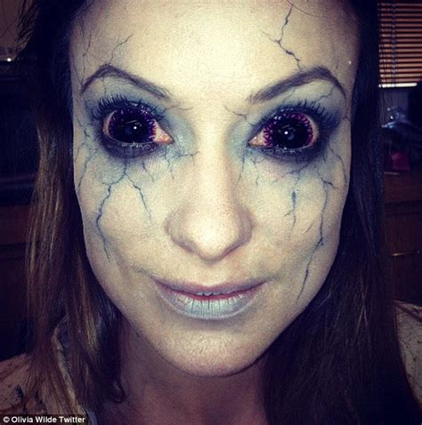 She Eye No 2 wilde jokes with fans as she reveals chilling make up for new horror daily mail