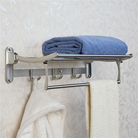 folding towel rack with bar bathroom