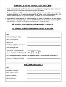 Staff Application Template by Doc 10001348 Annual Leave Form Template Annual Leave