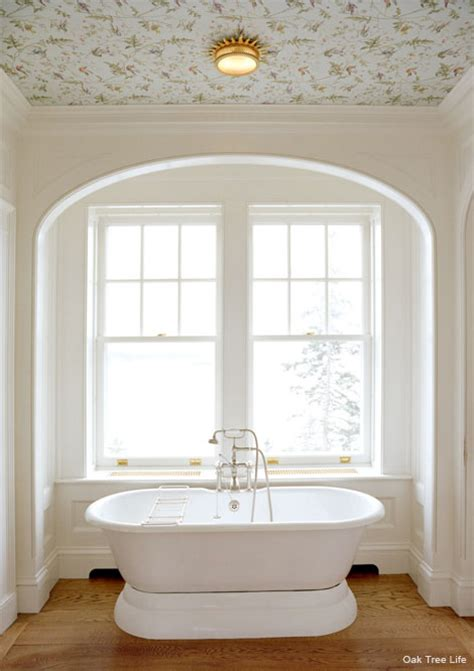 Painted Ceilings In Bathrooms by Wall Papered And Painted Ceilings Riverbend Home