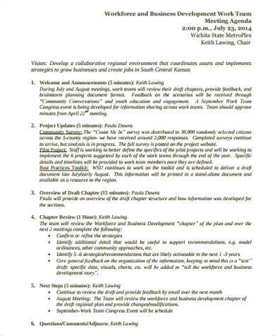 business development meeting agenda template 9 sle business meeting agenda free sle exle