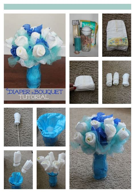 how to make a centerpiece how to make a diaper bouquet picture tutorial shower