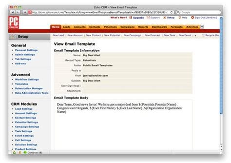 zoho crm templates how to choose crm software pcmag