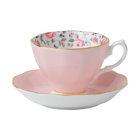 rose royal royal albert rose confetti fine bone china teacup saucer