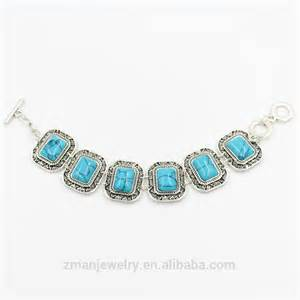2016 wholesale jewelry fashion turquoise chain bracelet