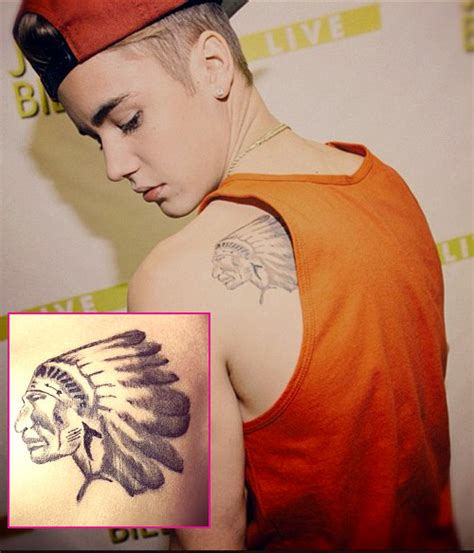 justin bieber head tattoo justin bieber s tattoo collection meaning 23 and