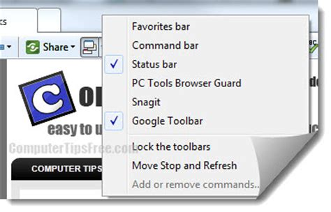 windows 7 top bar missing internet explorer 11 10 9 toolbar missing windows 8 7