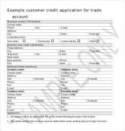 credit application form template uk word format free customer credit application