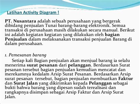 latihan membuat uml uml pertemuan 2 activity diagram