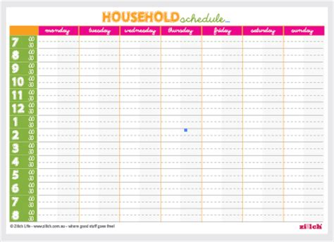 household roster template free stuff giveaway freecycle freebies australia