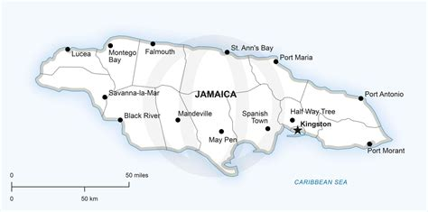 printable map of printable map of jamaica printable maps