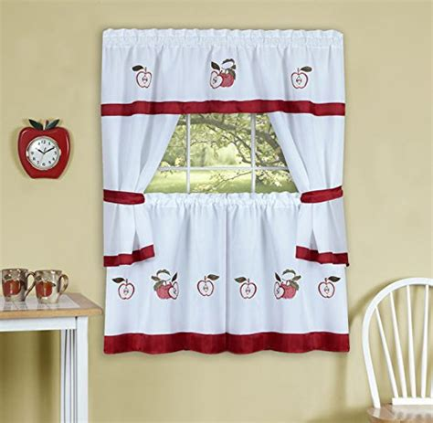 apple curtains for kitchen apple kitchen curtains everything log homes