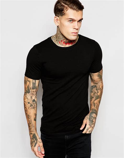 asos fit crew neck t shirt asos fit t shirt with crew neck and stretch