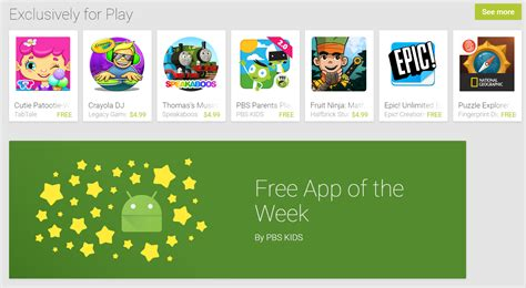 Play S Family Section Now Has Free Apps Of The Week