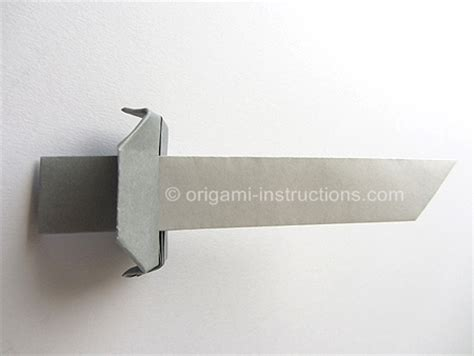 How To Make A Origami Sword Step By Step - easy origami sword folding