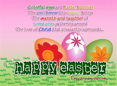 Easter Card Messages