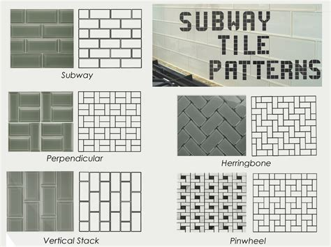 subway tile patterns backsplash subway tile kitchen backsplash patterns tiles marble