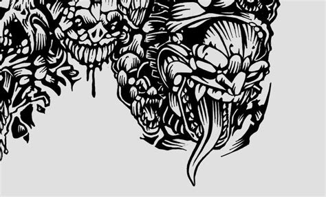 skull tattoo babbeq design