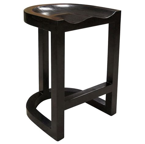 Black Saddle Stool by Dimitrios Industrial Loft Rubbed Black Saddle Counter