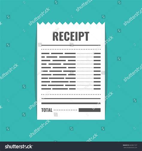 receipt template vector receipt icon invoice sign bill atm stock vector 663801727