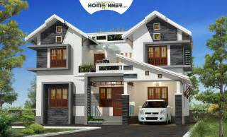 Home Design Plans Free by Attractive Exterior 4bhk Kerala Villa Design