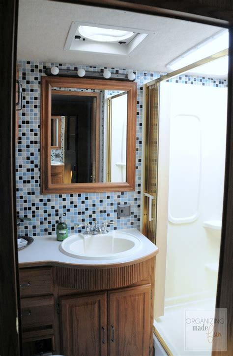 hometalk rv motorhome bathroom makeover