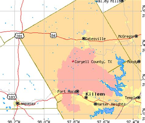 coryell county texas map coryell county texas detailed profile houses real estate cost of living wages work