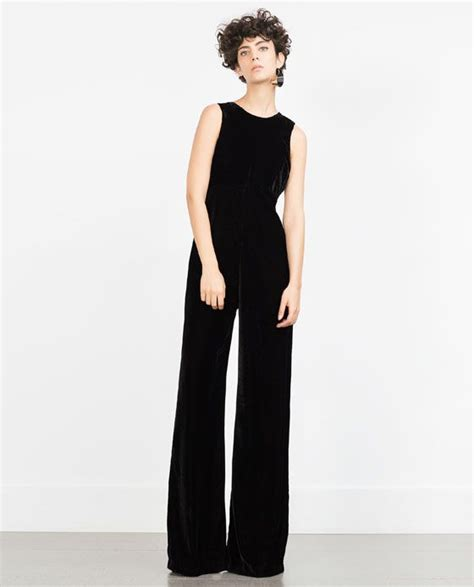 Zara Overall By Aqeela 1 image 1 of velvet jumpsuit from zara all i want for