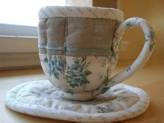 Patchwork Pottery - ilikeitdontyou quilted teacups by patchwork pottery