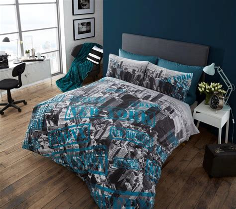 Flannelette Single Duvet Cover New York City Look Premium Duvet Cover Bedding Set