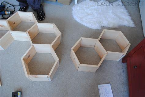 Diy Wood Honeycomb Shelves Jenna Burger Diy Honeycomb Shelves