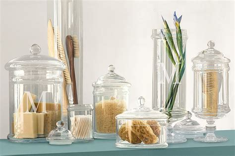 bathroom apothecary jar ideas tuesday s tips apothecary jars as chic storage 4 kitch bath laundry rooms design indulgences