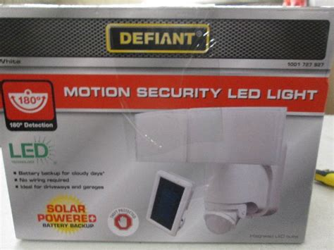 defiant solar motion security led l lighting