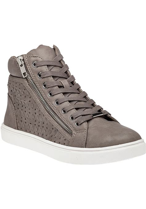 High Top Sneakers lyst steve madden eiris grey high top sneaker in gray